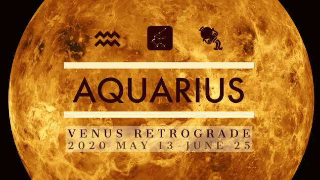 2020 Venus Retrograde:11 Aquarius